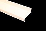 Vindusbeslag over 70x2500 mm hvit