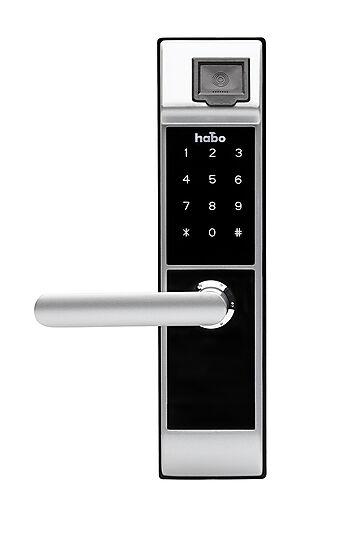 Elektronisk dørlås Tribe m/fingeravtrykksleser for venstre dør