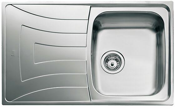 Kjøkkenvask Universo UNI100D-WT f/ nedforing vendbar