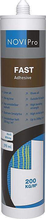 Lim fast hvit 290 ml