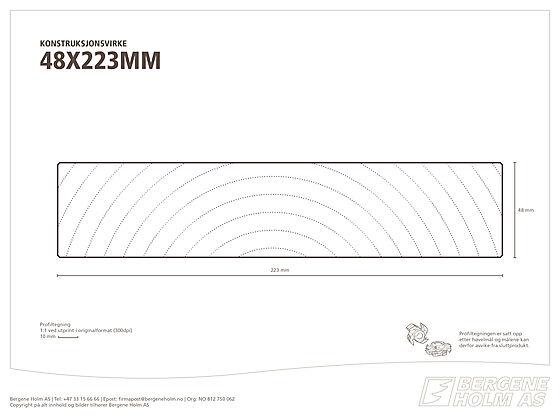 Konstruksjonsvirke C24 48x223 mm ubehandlet gran