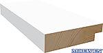 Dørsett utforingslist 18x70 mm hvitmalt furu