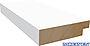 Dørsett utforingslist limtre 18x45 mm hvitmalt furu