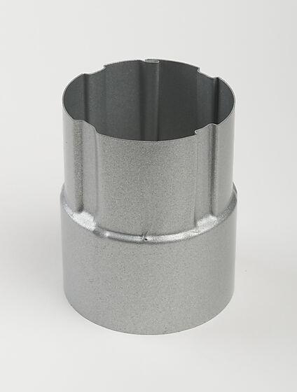 Nedløpsrørskjøt Stål 75 mm Silver