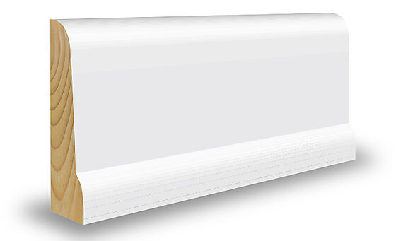 Gulvlist ideal furu hvit bomull 21x67x4400 mm NCS S0502Y