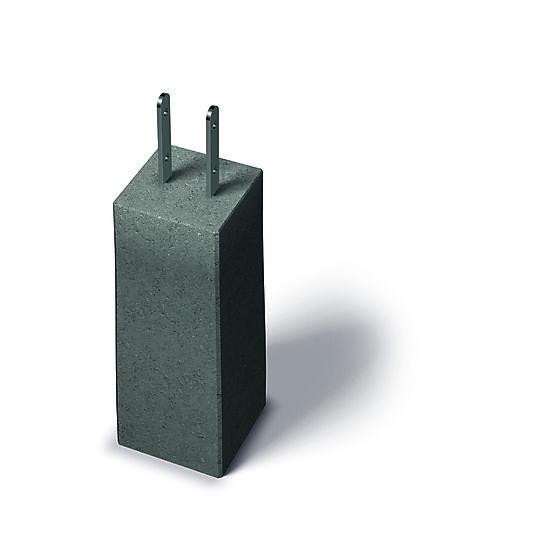 Betong fundament 500x185x185 mm m/ fast stolpesko 48 mm