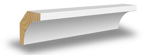Hulkillist furu hvit innvendig 15x15x2700 mm NCS S0502Y