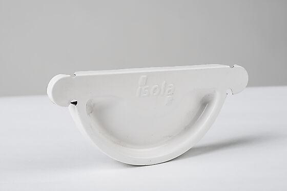 Endestykke stål 125 mm hvit