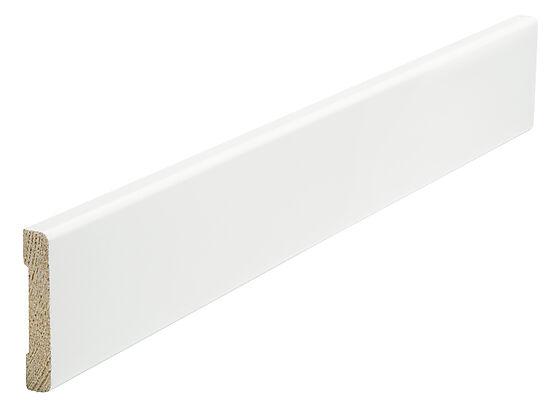 Brannmurlist rund furu hvit bomull 9x45x4400 mm NCS S0502Y