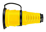 Skjøtekontakt gul IP44