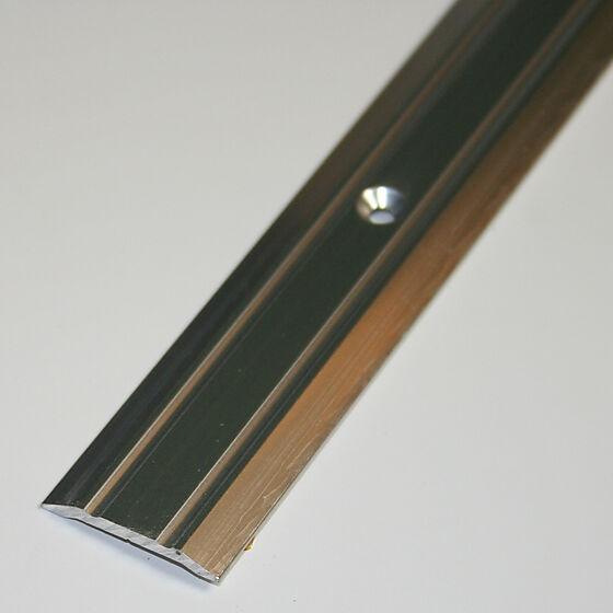 Overgangslist nr. 1 25 mm sølv eloksert 1 meter borret m/skruer