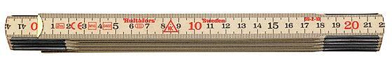 Meterstokk 2 meter tre 59-2-10 metrisk gradering
