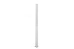 Stolpe aluminium m/hatt hvit 152 cm