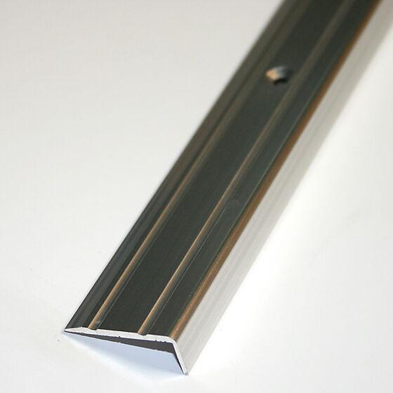 Trappenese nr. 8 sølv blank borret m/skruer 2 meter