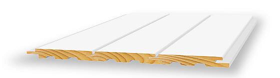 Opus sprekkpanel endepløyd 13x120x4850 mm hvitmalt furu