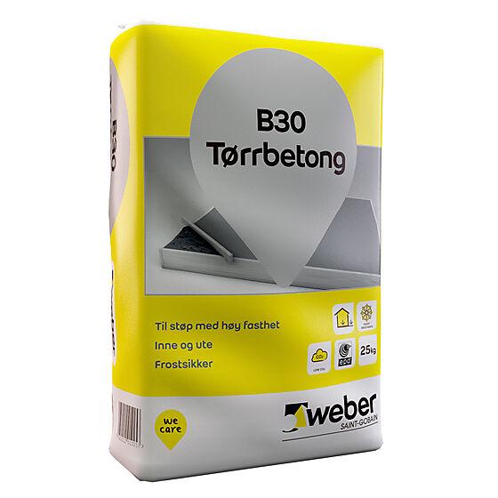 Tørrbetong B30 25 kg
