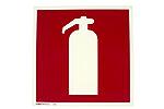 Skilt symbol brannslukker 20X20 cm