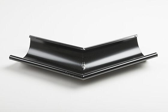 Utvendig vinkel 45grader 125mm sort