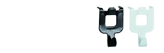 Opphengskrok Fast & Fix sort blisterkort a 8 stk