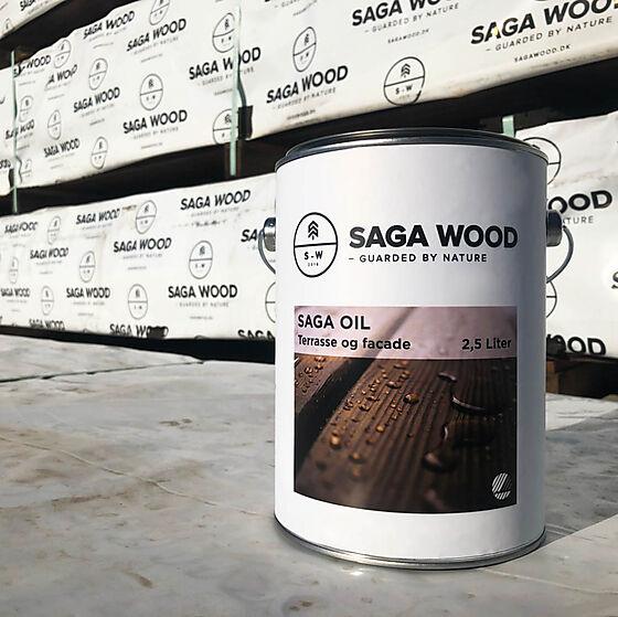 Saga linolje 2,5 liter mørk brun