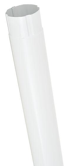 Nedløp 15 stål hvit 75 mm 3 m