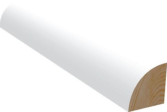 Kvartstaff 15x15x2400 mm hvitmalt furu NCS S0502Y