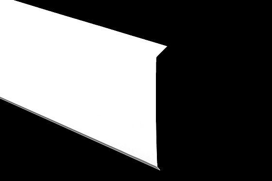Bordtakbeslag 175x2000 mm 22 grader hvitmalt