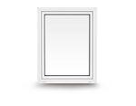 Vindu toveissvingende 990X1190 mm 2-lags glass venstrehengslet hvit