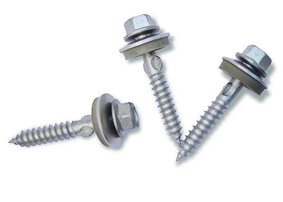 Skruer selvborende aluminium 5,5x35 mm med bits pak A 50 stykk