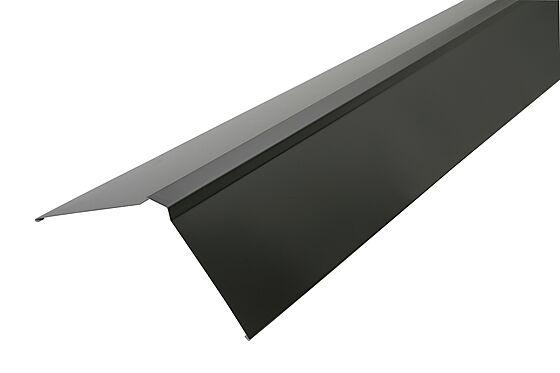 Mønebeslag 160x2000 mm stål sort
