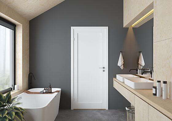 Scanflex Trend 1 dørblad hvit 90x200 cm