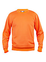 Basic genser rund hals 021030 HiVis oransje XS