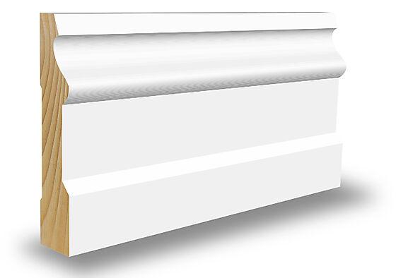 Gulvlist CW233 furu klassisk hvit 15x70x4400 mm S0500N