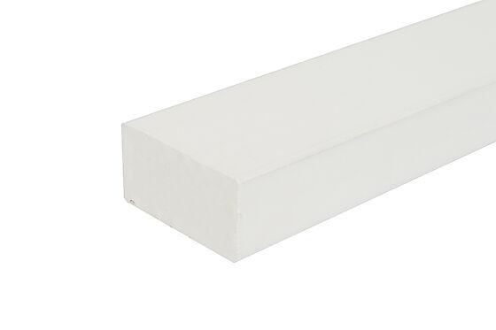 Stolpe for rekkverk 43x90X1200 mm hvitmalt