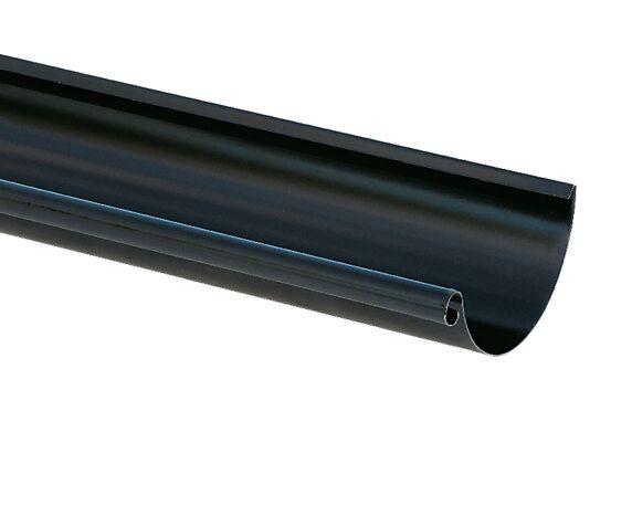 takrenne stål 150mm 4m sort