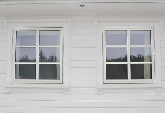 Sidekloss 601M 340x95x45 mm vindusknekt hvitmalt