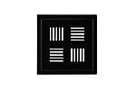 Slukrist design sort matt symmet 20x20 cm