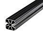 Plastmo aluminium midtstolpe for toppmontering antrasittgrå
