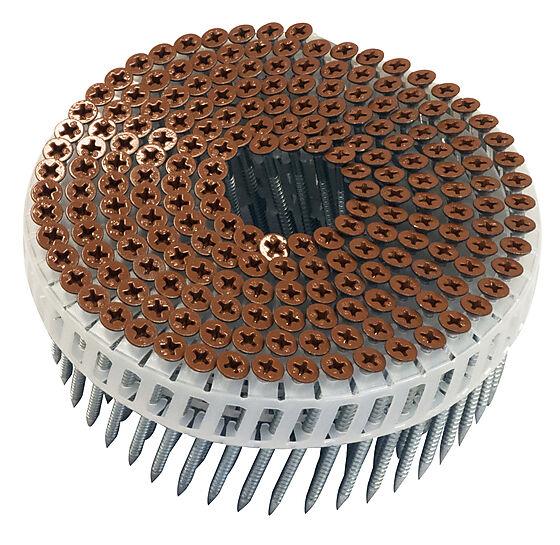Spikerskrue 2,80x50mm rød ss 200 stk/coil isola