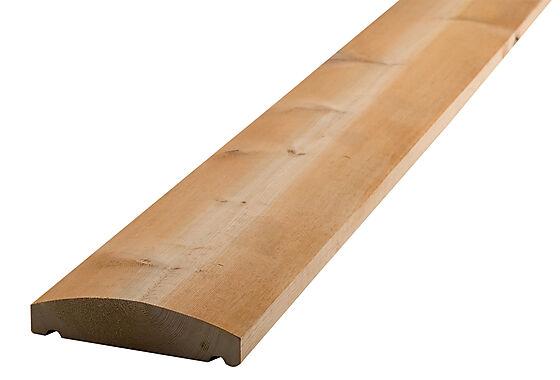 Altanrekke rund 34x145 mm furu 3 sider grunnet Frostrøyk