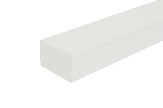 Stolpe for rekkverk 43x70x1200 mm hvitmalt