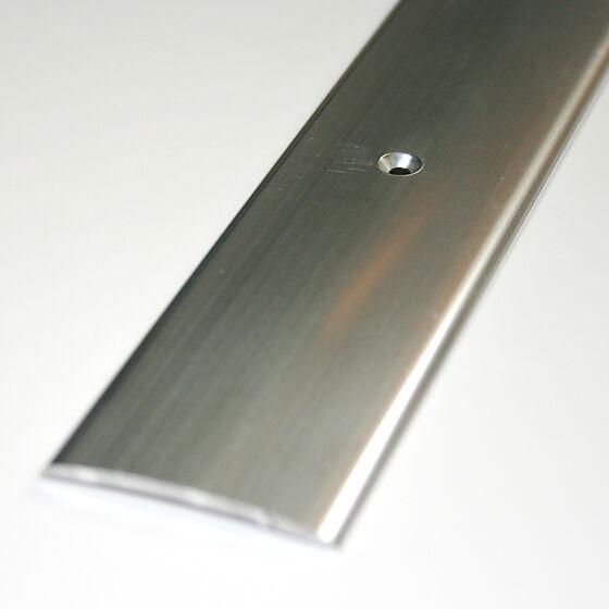 Overgangslist nr. 3 40 mm sølv eloksert borret m/skruer 1 meter
