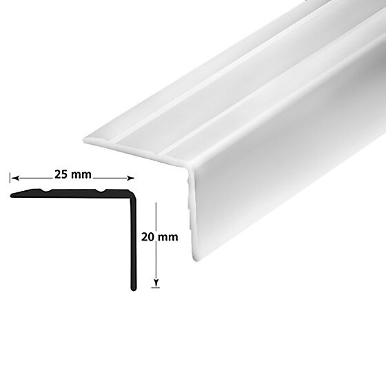 Trappenese nr. 9.1 sølv blank 2 meter borret m/skruer