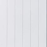 Veggplate MDF v-fas hvit 11x620x2390 mm