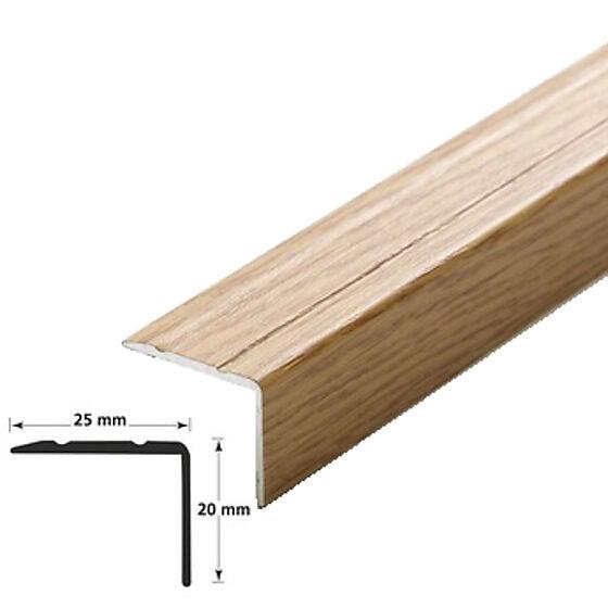 Trappenese nr. 9.1 eikfoliert aluminium, selvklebende, 2 m