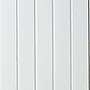 Veggplate MDF skygge skrå hvit 11x620x2390 mm