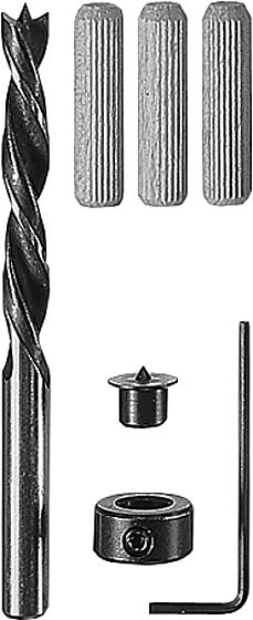 Trepluggsett ø 6 mm inkl/ bor og stopper blisterkort a 32 stk