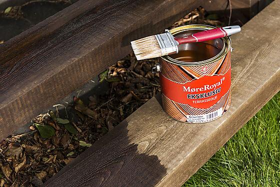 Terrasseolje eksklusiv brun 2,7 liter