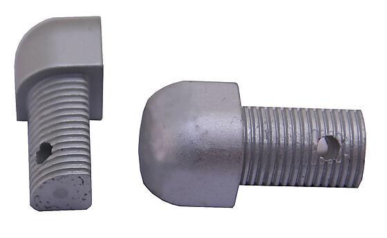 Hjørnestift utvendig anodisert aluminium 10 mm pakke a 2 stk