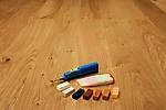 Reparasjonsvoks Til Skade I Planker 1 Smeltekniv 1 Kam 7 Voksblokker